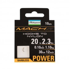 Mach XT Power Barbless Hooks to Nylon